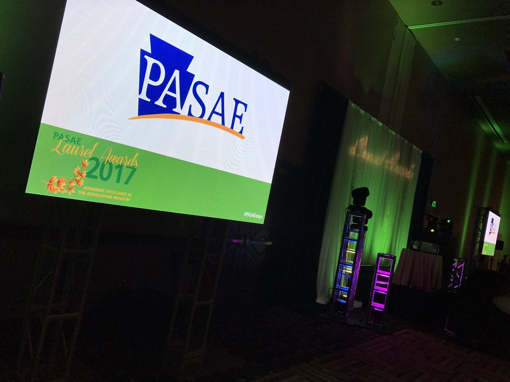 PASAE 2016 Laurel Awards LED Walls and Stage Setup