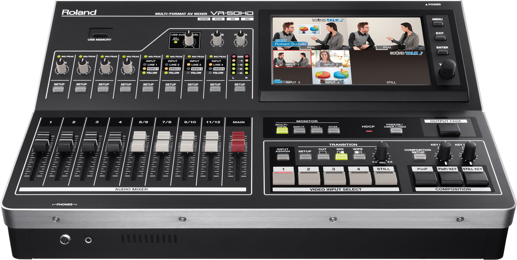 Roland VR-50HD: Live Event Multi-Format HD Switcher